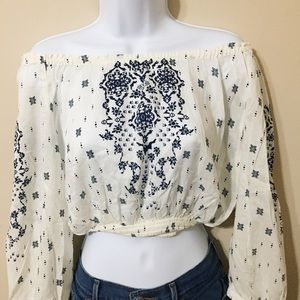 [NWOT] h&m • off shoulder crop top